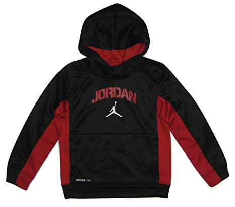 ba8851b0f2ba Image Unavailable. Image not available for. Color  Nike Air Jordan Boys   Therma-fit Hooded Sweatshirt ...