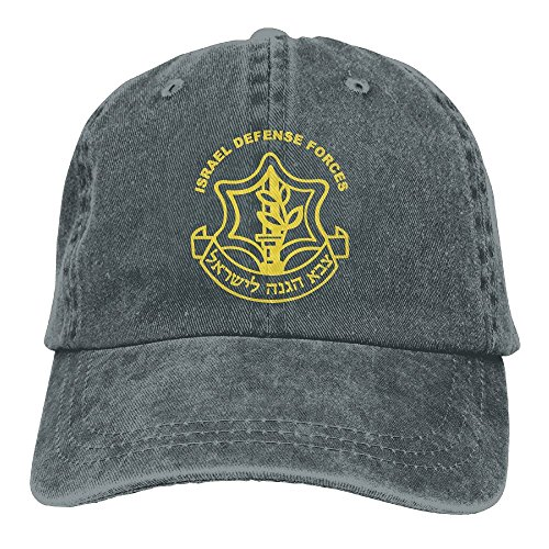 Costume Men Israeli (Buyiyang-01 Men Women Israeli Defense Force Logo Denim Jeanet Baseball Hat Adjustable Hip Hop)