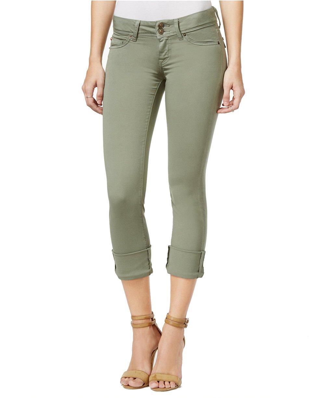 Hudson Jeans Women's Ginny Cuffed Skinny Olive Wash Jeans (Juniper, 25)