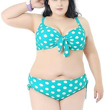 Moin Frauen Plus Size Bikini Damen Bademode A-Line Push-up Bikini Set  Badeanzug Bandeau ... f4c6424c8f