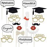 ETbotu 17 Pcs Graduation Photo Props Graduation Party Decorations for 2018 Graduates