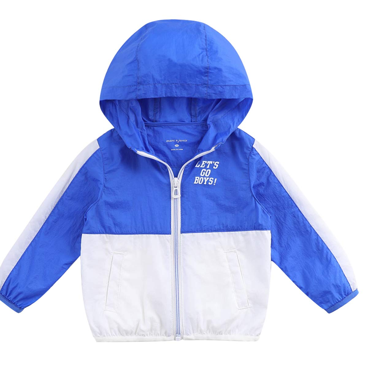 marc janie Boys Color Block Sun Protective Hooded Cover-Up Coat UPF 50+