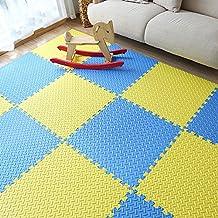 yazi 24''x24''x0.47'' Eva Foam Mat Interlocking Anti-fatigue Puzzle Exercise & Fitness Gym Soft Yoga Trade Show Play Room Basement Square Floor Tiles