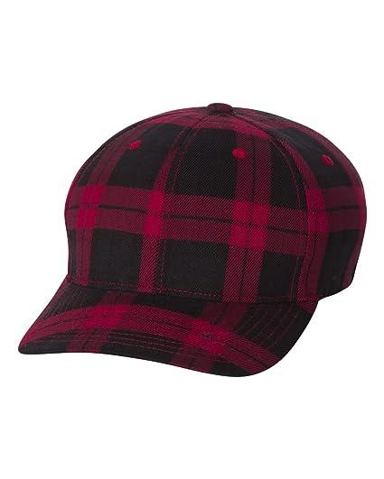 a12a403b9 Flexfit Men's Cotton Tartan Plaid Stretch Fit Baseball Hat