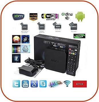 Ngi® -mxq Android Smart TV Box HD 1080P Media Player Quad Core S802 1.5 GHz: Amazon.es: Electrónica