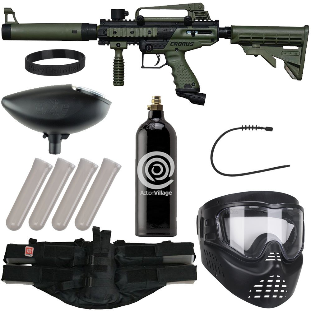 Action Village Tippmann Epic Paintball Gun Package Kit (Cronus) (Olive Tactical Edition) by Action Village