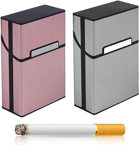 Portasigarette alluminio da 20 porta pacchetto sigarette calamita 6 colori