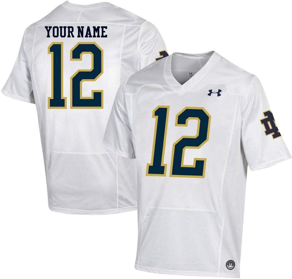 Custom Notre Dame Fighting Irish White Football Jersey
