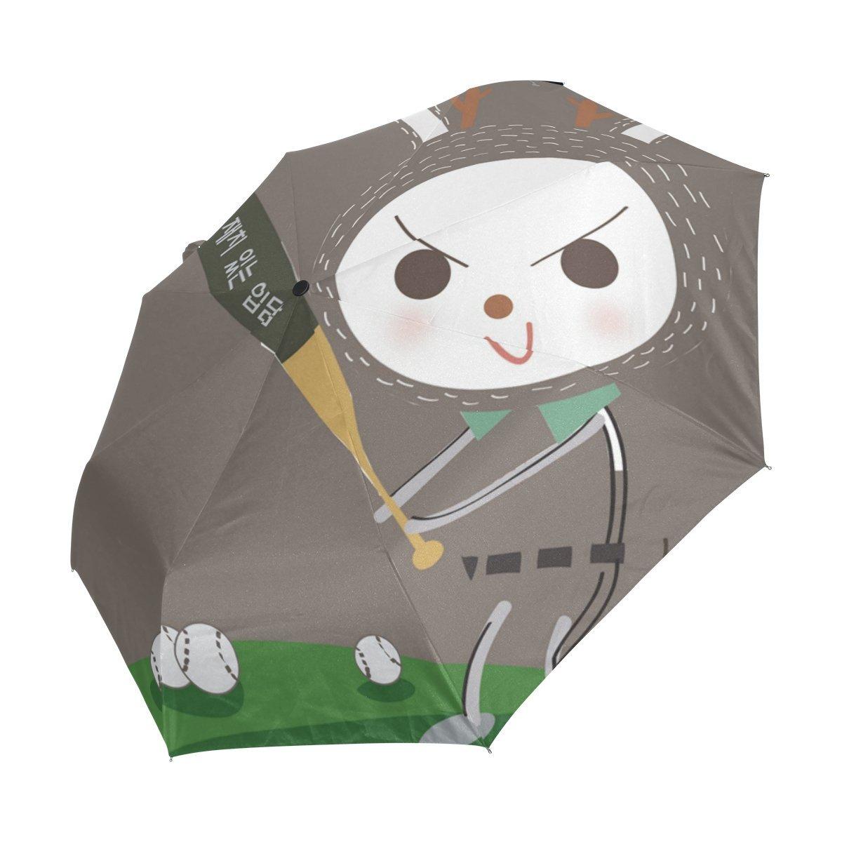 Folding Umbrella Rainproof /& Windprrof Umbrella Rabbit Custom Umbrella Automatic