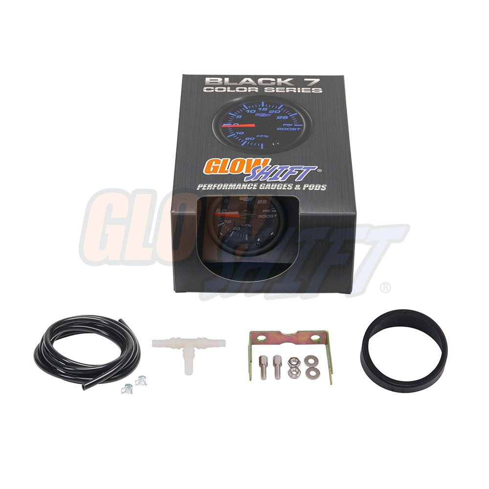 Glowshift Black 7 Color 30 Psi Boost Vacuum Gauge Auto Meter Wire Harness Automotive