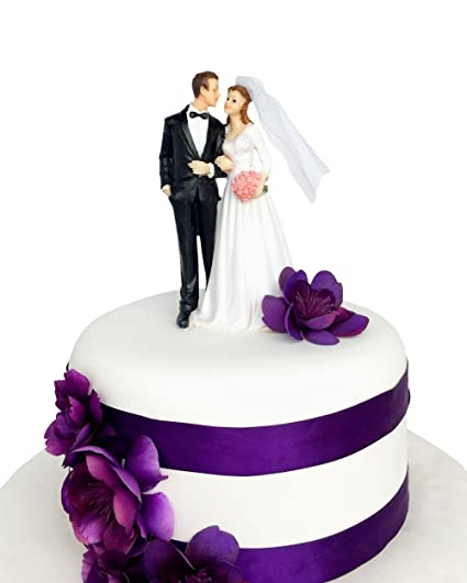 Amazon Com Wedding Cake Topper Funny Romantic Groom And Bride