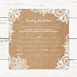 Evening Postcard Invitations - Rustic Lace Pattern - Pack of 10