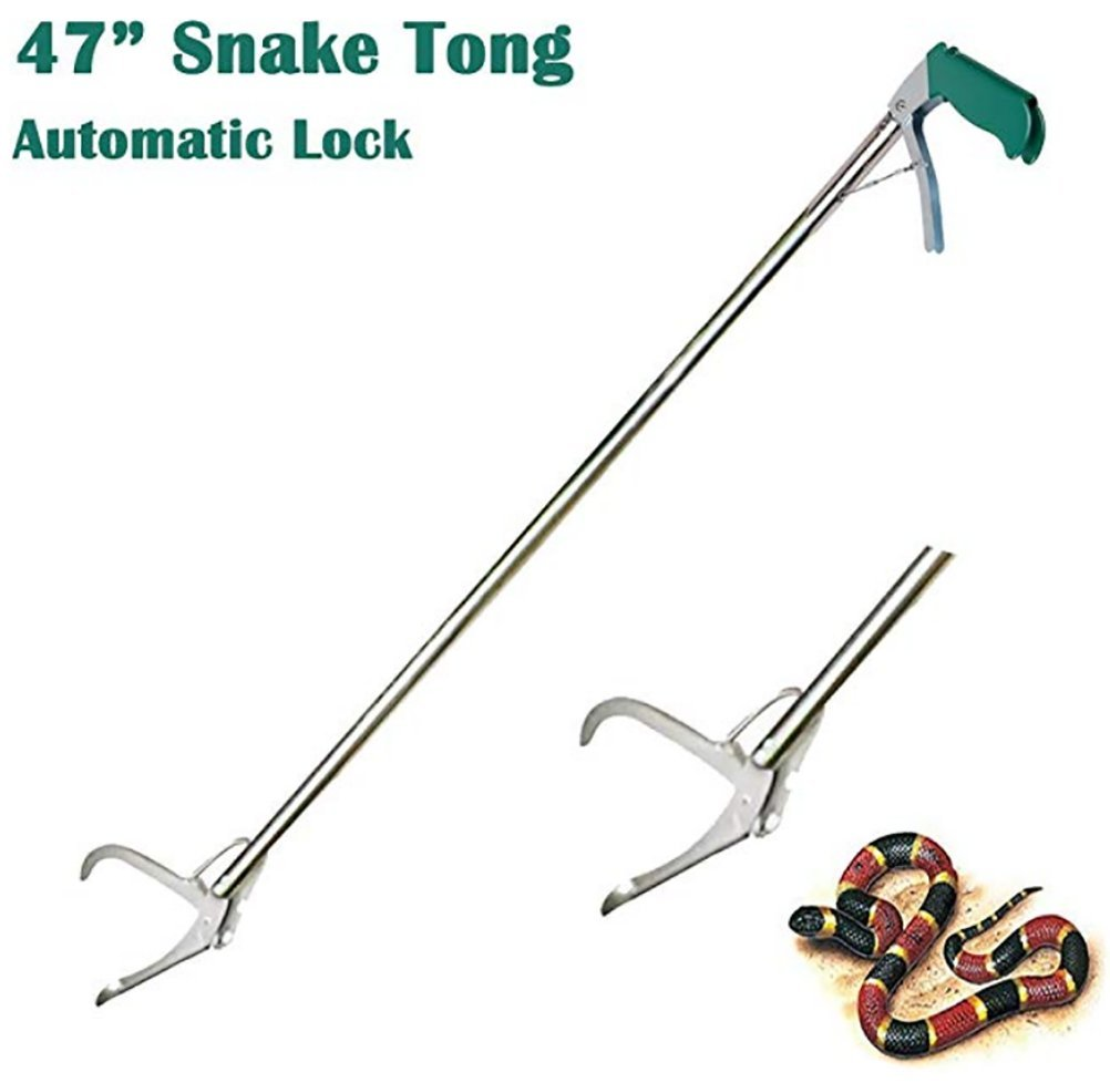 TUDIO Snake Catcher, Professionelle Snake Tongs, Reptil Grabber Stick, Klapperschlange Zangen, Outdoor-Abenteuer-Handling-Tool Trash Picker
