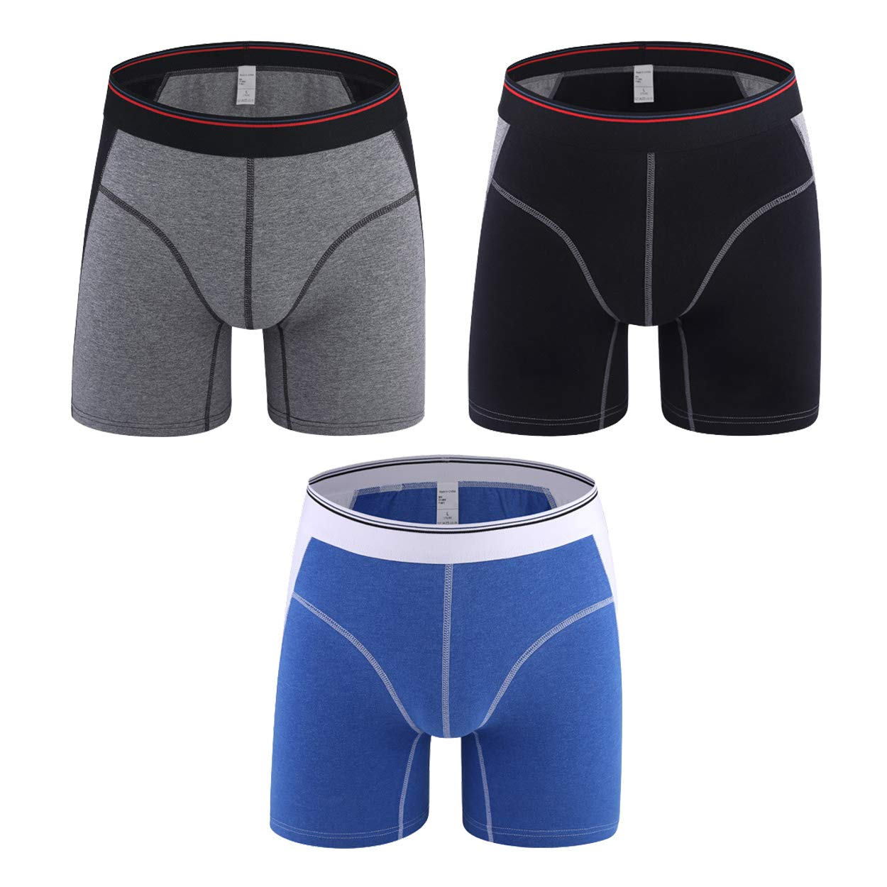 Hot Selling S Cotton Antibacterial Comfortable Long Leg Mens Boxers Shorts Male Underpants Six Colors Size M To Xxxl Underwear & Sleepwears Men's Underwear