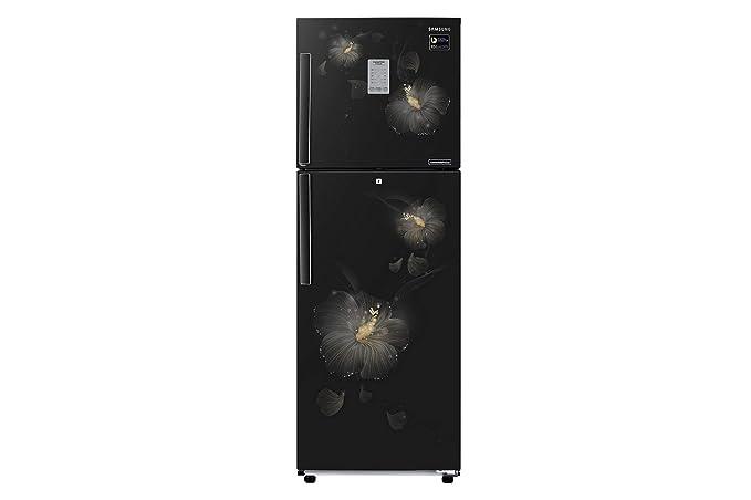 Samsung 253 L 3 Star Frost Free Double Door Refrigerator(RT28M3983B3/HL, Rose Mallow Black, Convertible, Inverter Compressor)