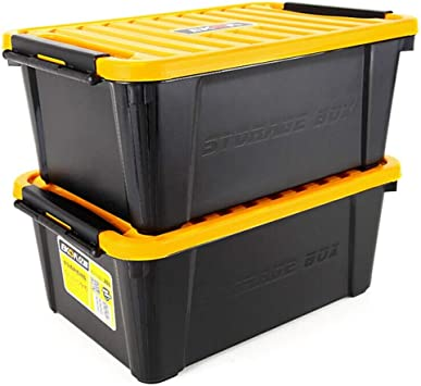 Juego de 2 cajas de almacenamiento de plástico para coche con tapa ...