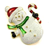 HuaYang Nouveau broche en alliage pour la soirée Noël cadeau de Noël(Pattern: bonhomme de neige)