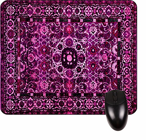 Price comparison product image Purple Persian/Oriental Rug-Mat- Square Mousepad - Stylish, durable office accessory and gift