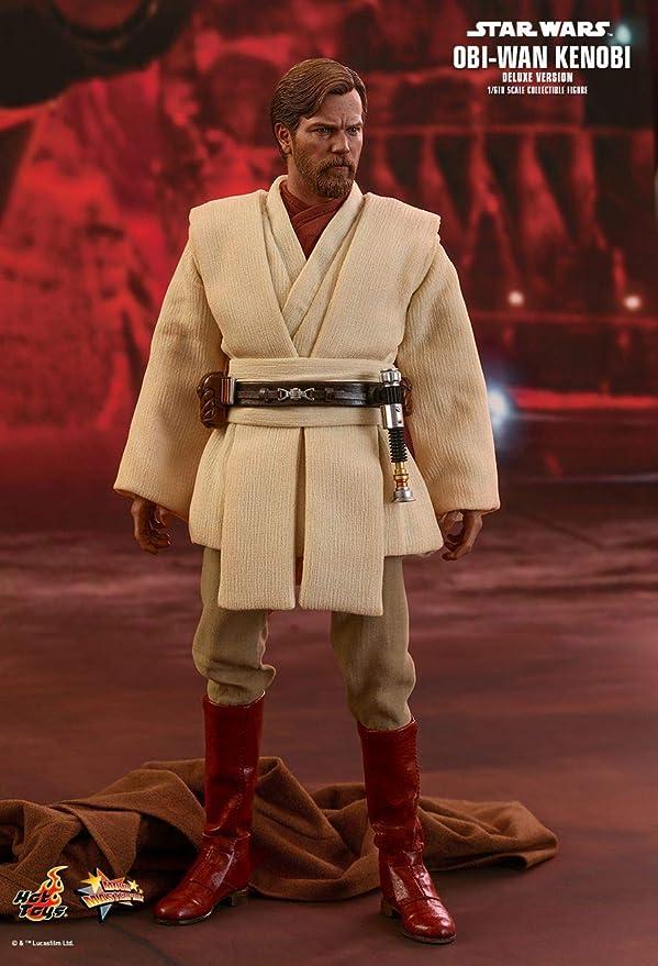 Amazon.com: Hot Toys Star Wars: Episodio III: Revenge of the Sith OBI-Wan Kenobi (versión de lujo) 1/6 Escala película coleccionable figura: Toys & Games