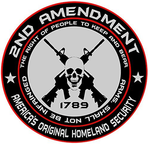 2nd Amendment - America's Original Homeland Security Round Bumper Sticker Decal (5 (Stickers And Decals)