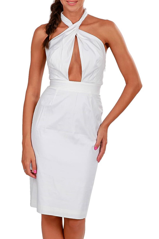 Dsquared² Damen Kleid Sommerkleid , Farbe: Weiss kaufen