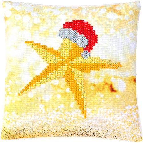 Needleart World Diamond Dotz Christmas Star Mini Pillow Kit No Sew by Diamond Dotz