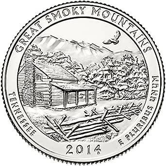 2014 P Great Smokey Mountains National Park Quarter Choice Uncirculated