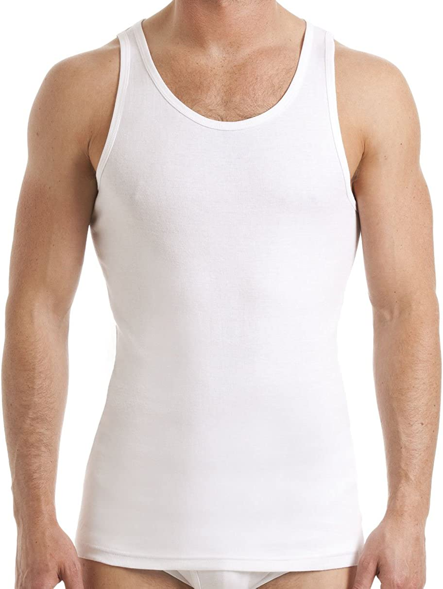 Mens-3-Pack-Fitted-Stretch-Vests-100/%Pure-Cotton-Gym-Top-Summer-Training-TankTop