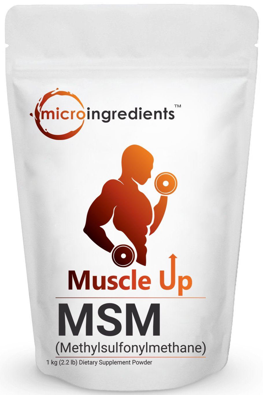 Pure MSM Powder (Methysulfonylmethane) , 1KG (2.2 LB), Powerfully Supports the Health and Vitality of Skin, Hair, Nails, Bones, Cartilage and Joints. Non-GMO and Gluten Free.