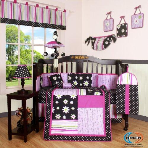 GEENNY Boutique Crib Bedding Set, Charming Flower, 13 Piece