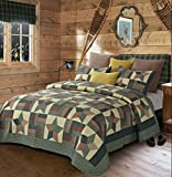 Duke Imports DQ601K Woodland Star Green Quilt, King