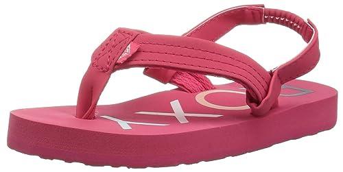 61a23bfcb Roxy Girls  TW Vista 3 Point Sandal Flip-Flop Berry 5 M US Toddler