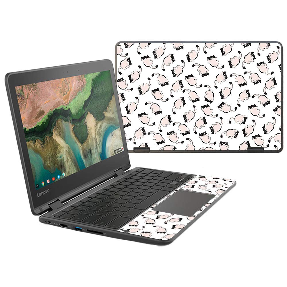 MightySkins Skin Compatible with Lenovo 300e Chromebook 11.6'' (2018) - Raining Cats | Protective, Durable, and Unique Vinyl Decal wrap Cover | Easy to Apply, Remove | Made in The USA