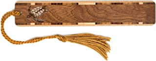 product image for Mitercraft Sea Turtle -Tortoise Engraved Wooden Bookmark on Sapele with Tassel - Search B07JQDQDPW for Personalized Version