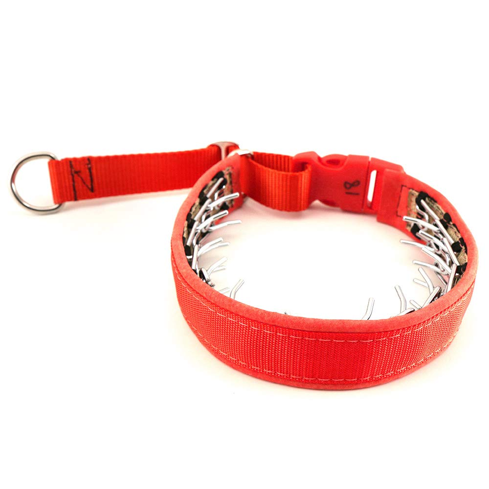Keeper Collar Hidden Prong with Snap Red (18)