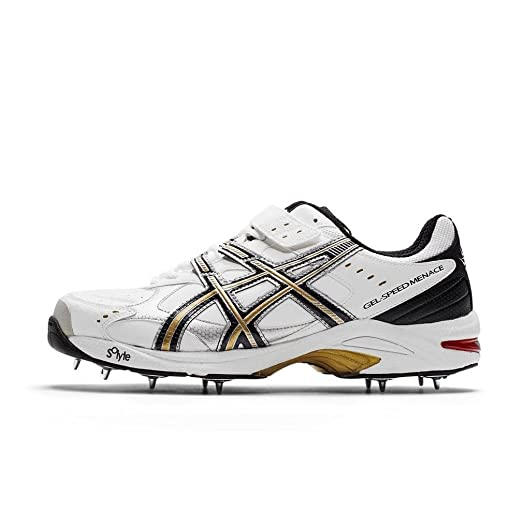 ASICS GEL-SPEED MENACE Cricket Shoes - 7.5 - White