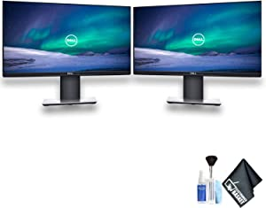 """Dell P2219H 21.5"""" 16:9 Ultrathin Bezel IPS Monitor Dual Monitor Set With Deluxe Cleaning Kit"""