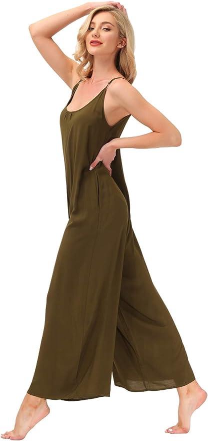 BUENOS NINOS Women's V Neck Floral Maxi Dress Boho Printed Adjustable Spaghetti Strap Ethnic Beach Long Dress with Pockets   Amazon