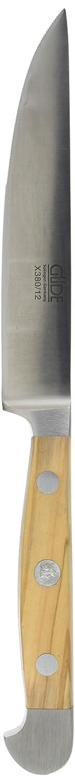 Güde Erwachsene Porterhouse-Steakmesser Alpha-Olive Serie Klingenlänge: 12 cm Olivenholz Messer, One Größe
