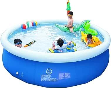 CMWL Piscina Inflable, Piscina Hinchable Hinchable De PVC sobre El Suelo, Piscina Interactiva Summer Water Party Lounge para Niños Adultos Piscinas: Amazon.es: Hogar