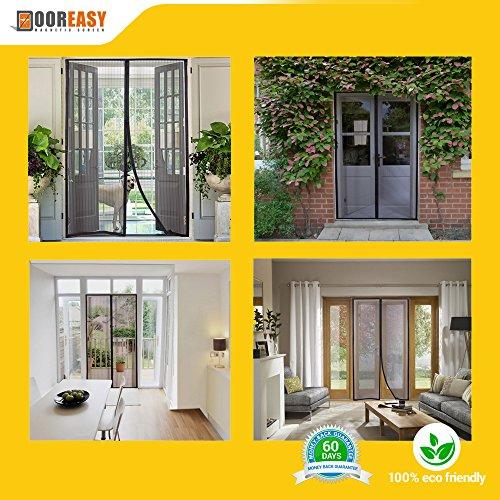 Dooreasy Magnetic Screen Door Super Fine Fly Screen For Doorways/Doors/Patio, Warding Off Mosquitoes and Biting Bugs, Fresh Air In(Fits Doors Up To 34''x82'') by DOOREASY (Image #9)