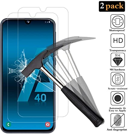 ANEWSIR Protector de Pantalla para Samsung Galaxy A40,[2 Pack ...
