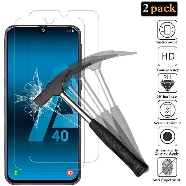 GUSODOR Protector de Pantalla para Samsung Galaxy A40 ...