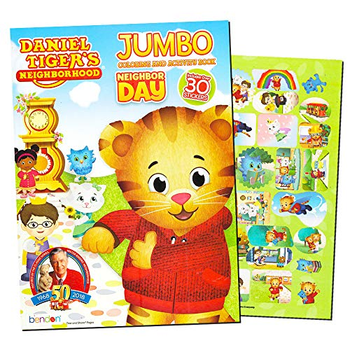 - Daniel Tiger's Neighborhood Jumbo Coloring & Activity Book by PBS Kids Fred Rogers
