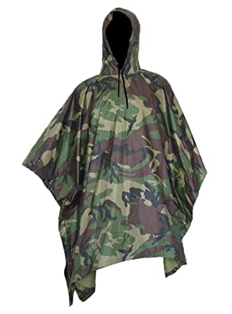 Multifunction Rain Poncho,Waterproof Raincoat with Hoods Rain Poncho for  Outdoor Hunting Hiking Activities