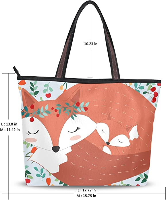 My Daily Women Tote Shoulder Bag Cute Insects River Flower Cartoon Handbag