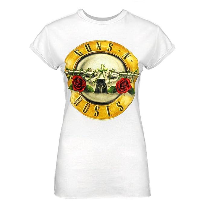 Amplified - Camiseta Modelo Guns N Roses Drum para Mujer: Amazon.es: Ropa y accesorios