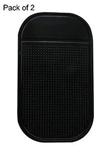 2Pcs Freedi Car Non-slip Dash Grip Pad Mat Dashboard Magic Mounting Pad for Passport 9500ix, Escort, Valentine, Beltronics, Whistler
