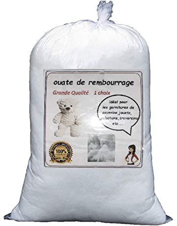Relleno de guata blanca, bolsa de 1kg, lavable hasta 30°