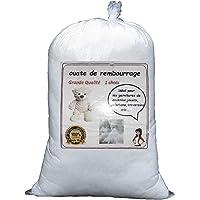 Relleno de guata blanca, bolsa de 1kg, lavable
